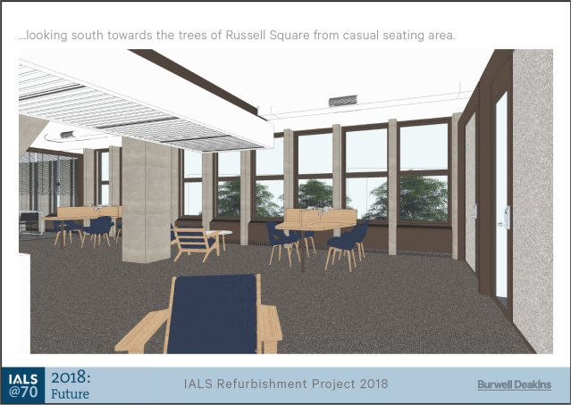 IALS refurbishment project Library 2nd Floor designs featuring casual seating