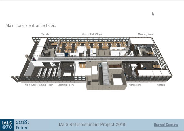 IALS refurbishment project IALS Library 2nd Floor designs