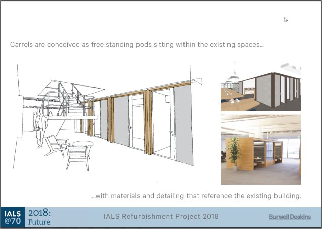 IALS refurbishment project Library carrel designs