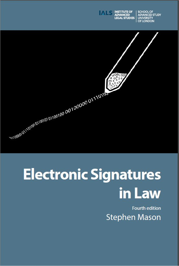 Provisional cover for Electronic Signatures in Law. 4th edition