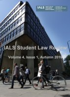 IALS Student Law Review Autumn 2016 cover