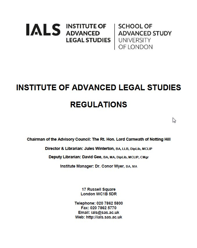 IALS Regulations