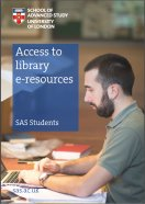 Access to library e-resources SAS students guide cover