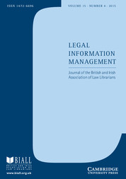Legal Information Management cover