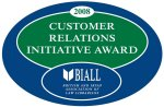 Image of Customer Relations Initiative Award from BIALL