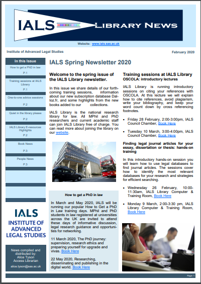 Cover of spring 2020 issue