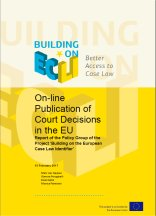 Report on On-line Publication of Court Decisions in the EU
