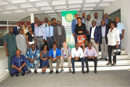 A group photo of the participants with the facilitator Prof David McQuoid-Mason
