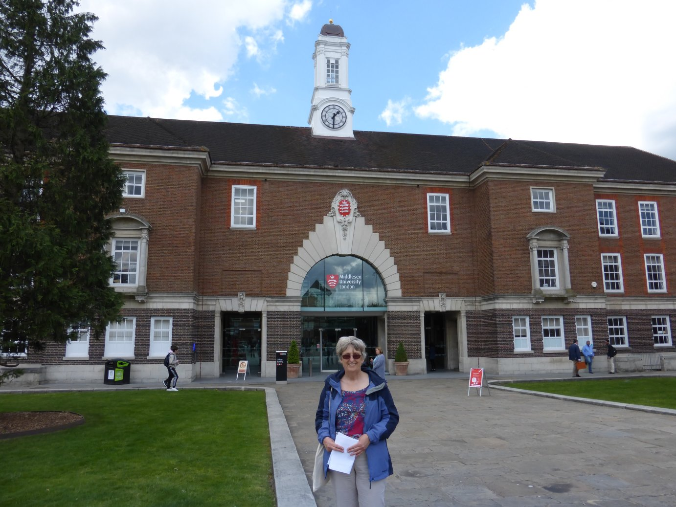 Katherine Read arriving for the IALS Road Show at Middlesex University 2016