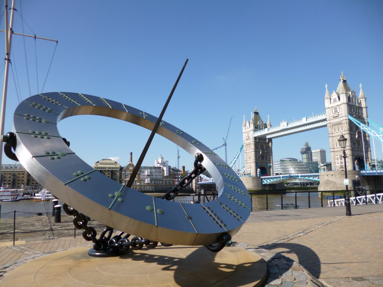 Sundial and Tower Bridge London