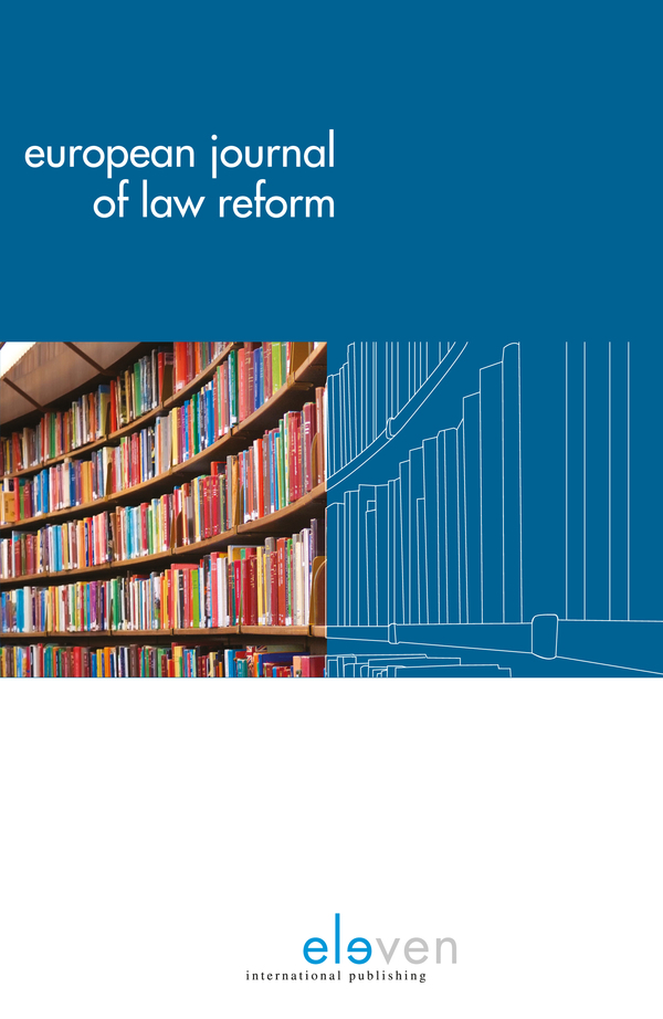 Cover of European Journal of Law Reform vol 21 issue 1