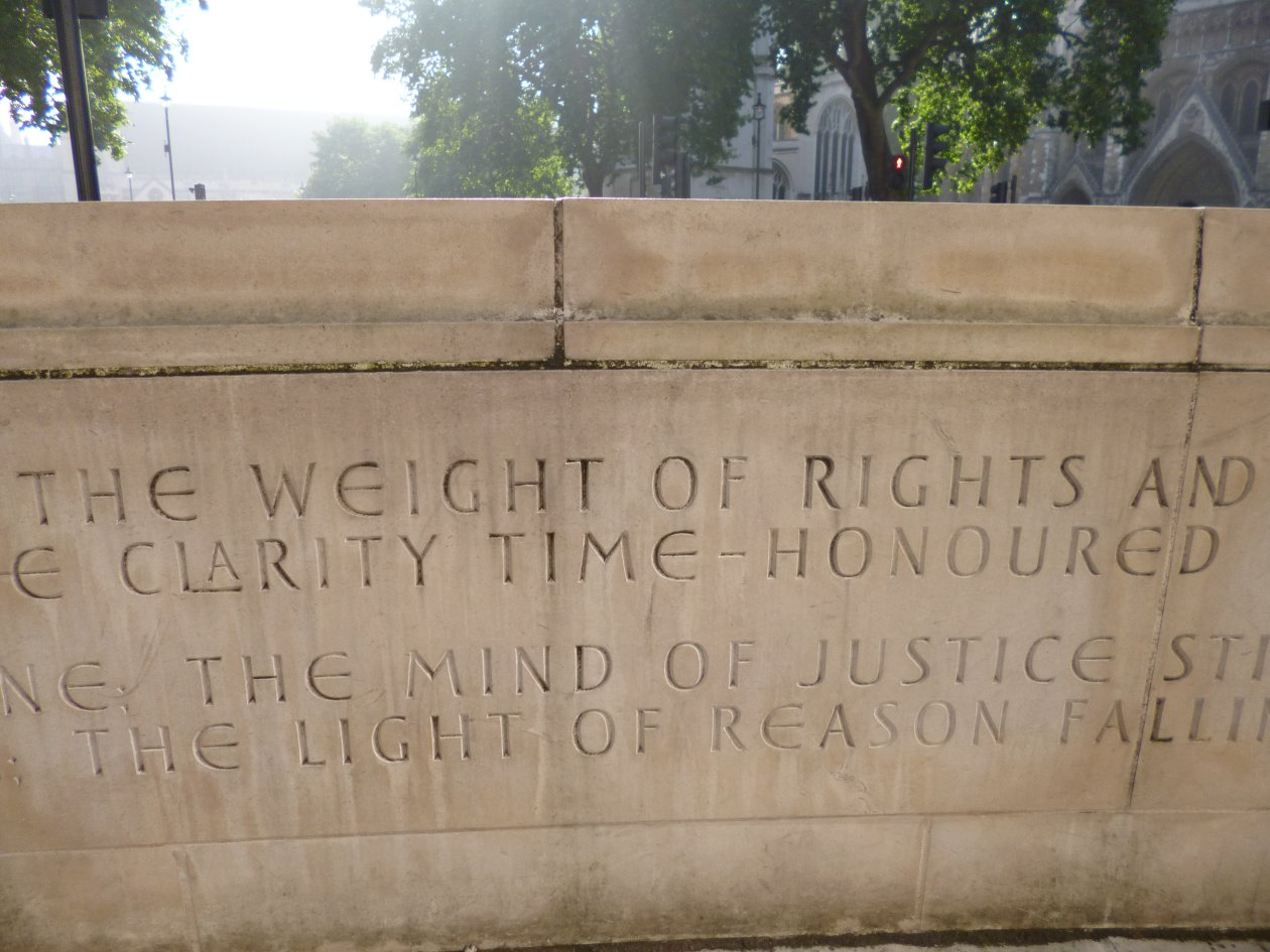 Mind of Justice - Andrew Motion poem in stone bench at the UK Supreme Court