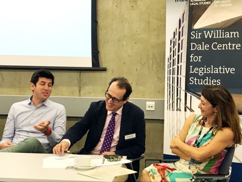 Picture of Steven Malby (left), Robert Lewis-Lettington (middle) and Dr Maria Mousmouti (right)