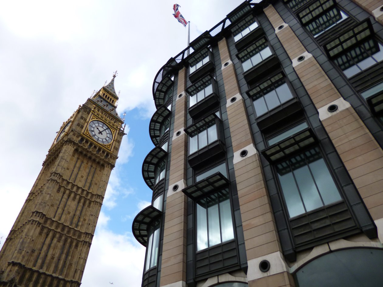Big Ben and Portcullis House, Westminster, London