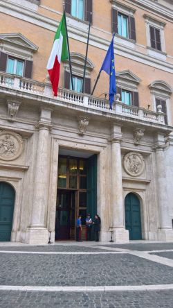 Picture of main gate of the Italian parliament building