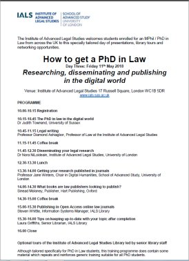 PhD Day Three Programme