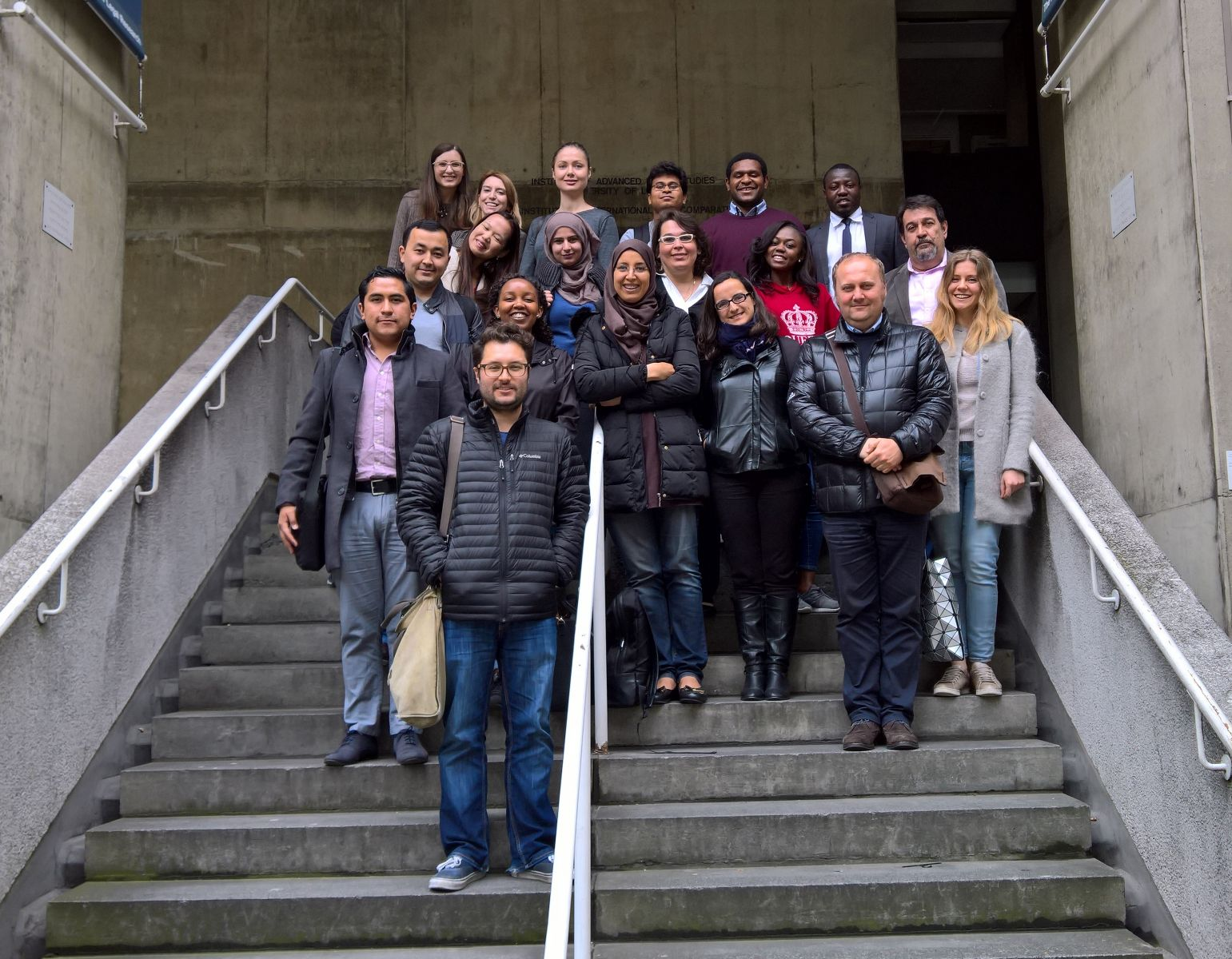 Picture of Erasmus Mundus students at the IALS in May 2017