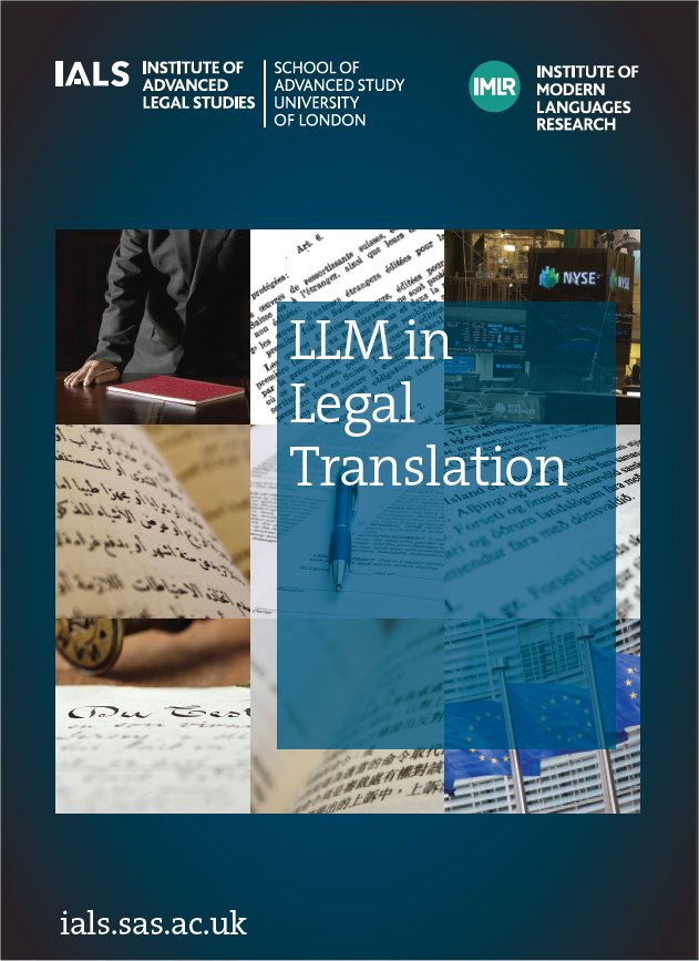 LLM in Legal Translation brochure cover