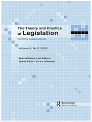 Theory and Practice of Legislation Vol 6 Issue 2 2018 cover
